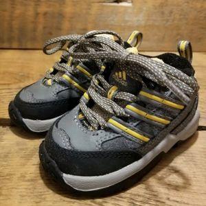 Adidas 3K Baby Running Shoes Non-Marking Gray